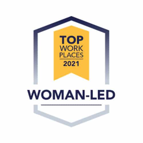 Career Badges Top Work Places Woman Led
